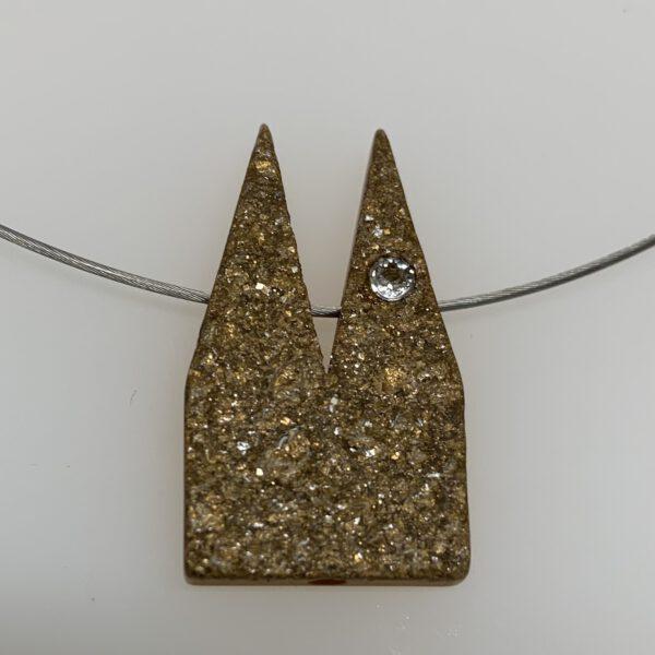 Ketten Dom-Schmuck Steinoptik Polaris mit Swarovski Kristall - Steinoptik Bronzefarben