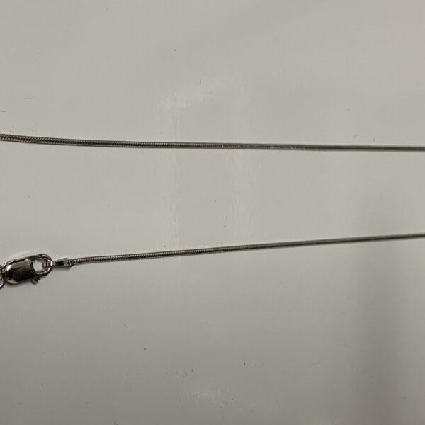 Halskette-Schlangenkette 925/Silber Rhodiniert