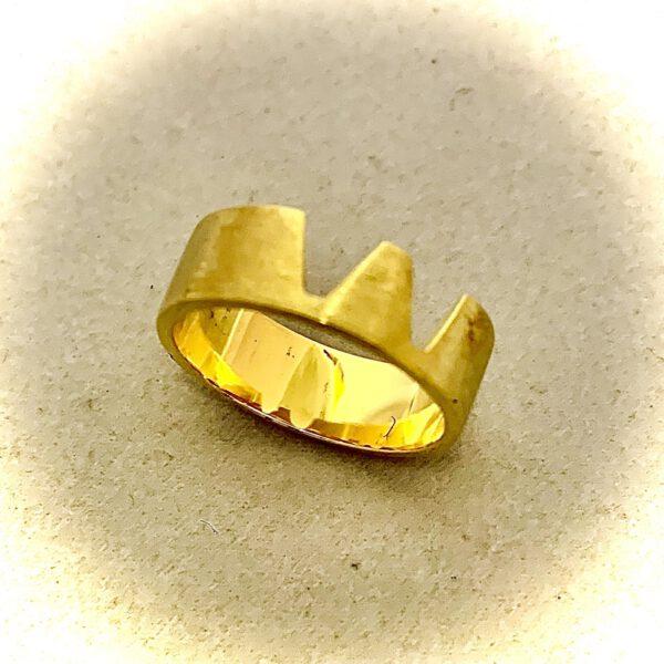Köln-Ring Dom-Schmuck in 925/ Silber vergoldet