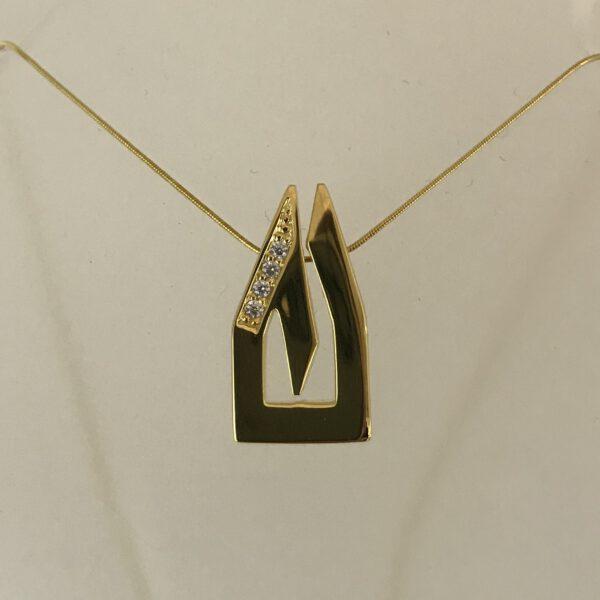 Anhänger Dom-Schmuck in 925/ Silber vergoldet mit Swarovski Kristall