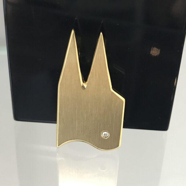 Anhänger DOM-Schmuck 925/ Silber vergoldet mit Swarovski Kristall