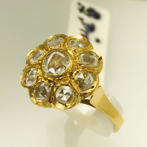Diamantring ca. 1,00 ct. 750/ Gelbgold - Unikat