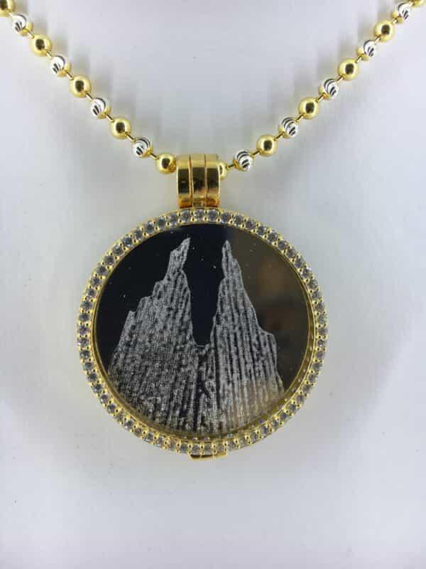 Medaillon Dom Schmuck My iMenso in 925/ Silber vergoldet