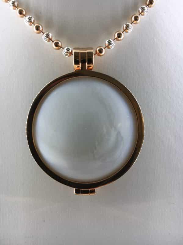 Medaillon Dom-Schmuck-My iMenso in 925/ Silber rosevergoldet