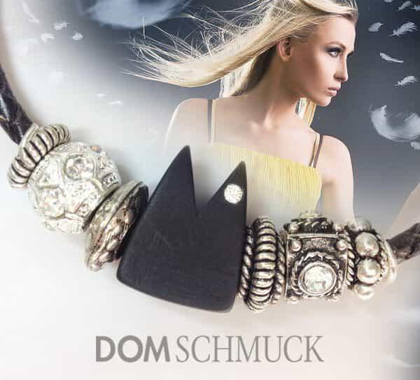 Lederkordelkette Dom Schmuck - Polaris mit Swarovski Kristallen