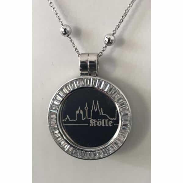 Medaillon Dom-Schmuck Skyline in 925/ Silber mit Swarovski Kristallen