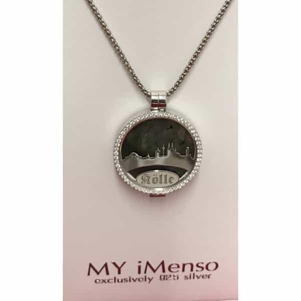 Medaillon Dom-Schmuck Skyline mit Swarovski Kristall in 925/ Silber